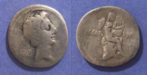 Ancient Coins - Roman Imperatorial, Octavian Struck 32/31 BC, Denarius
