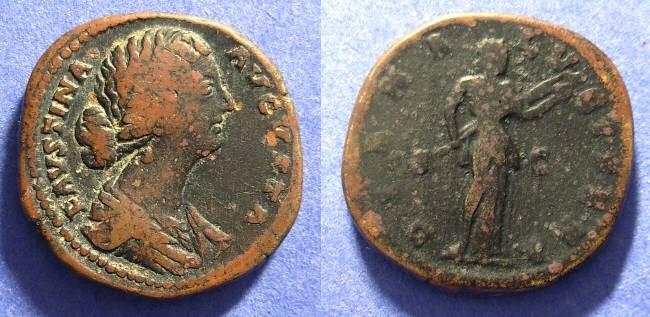 Ancient Coins - Faustina Jr d. 175AD  Aes