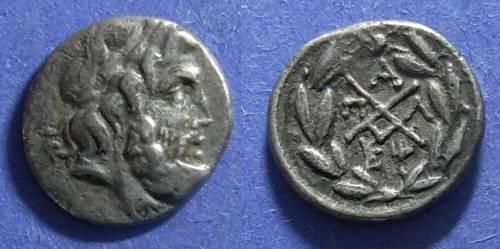 Ancient Coins - Achaean League, Pallantion Arkadia 196-146 BC, Hemidrachm