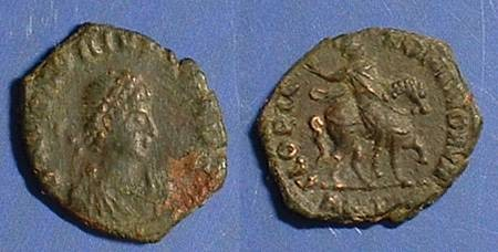 Ancient Coins - Honorius 394-423 AD AE-4 - Honorius on horseback