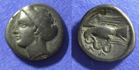 Ancient Coins - Chalkis Euboea - Drachm 338-308 BC