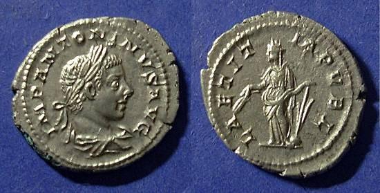 Ancient Coins - Roman Empire, Elagabalus 222-235, Denarius