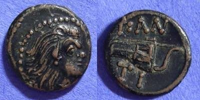 Ancient Coins - Pantikapaion Thrace: Circa 200 BC  AE13
