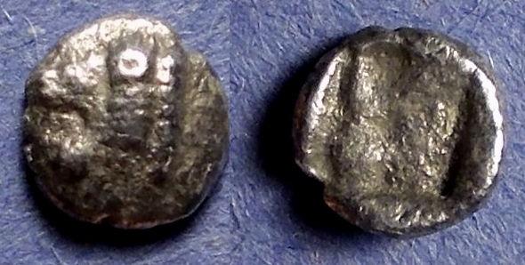 Ancient Coins - Asia Minor, Uncertain city Circa 450 BC, Hemiobol