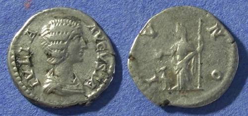 Ancient Coins - Roman Empire, Julia Domna 193-217 AD, Denarius