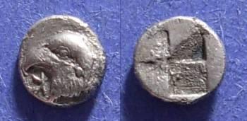Ancient Coins - Kyme, Aiolis 480-450 BC, Hemiobol