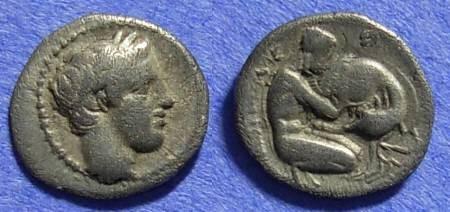 Ancient Coins - Neapolis Campania - Obol - 350-340 BC