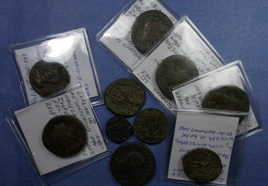 Ancient Coins - Roman Provincial, Group of ten AE 1st to 3rd Century,