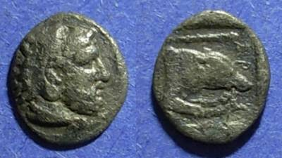 Ancient Coins - Macedonian Kingdom, Archelaos 413-399 BC, Diobol