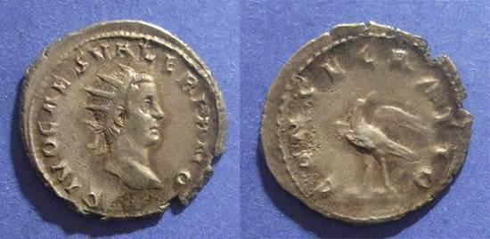 Ancient Coins - Roman Empire, Divo Valerian II d. 258, Antoninianus
