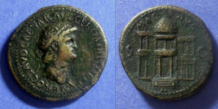 Ancient Coins - Roman Empire Nero 54-68 AD Dupondius