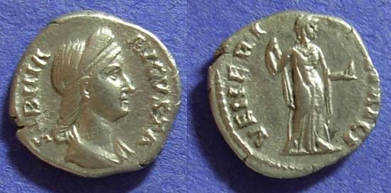 Ancient Coins - Sabina (Wife of Hadrian) 117-138AD Denarius
