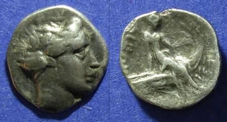 Ancient Coins - Histiaea, Euboea Circa 350 BC, Tetrobol