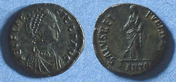 Ancient Coins - Aelia Flaccilla (wife of Theodosius) 379-383  AE2