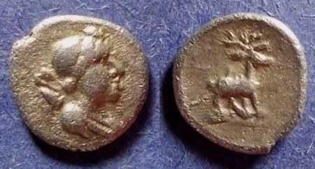 Ancient Coins - Ephesos, Ionia 245-202 BC, Obol