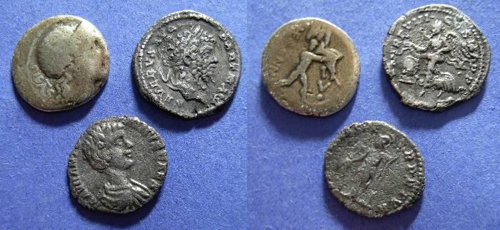 Ancient Coins - Three Roman Denarii
