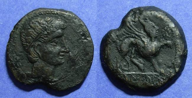Ancient Coins - Spain, Castulo Circa 150 BC, AE27