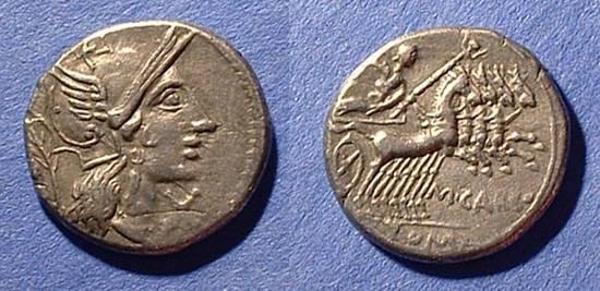 Ancient Coins - Roman Republic - Papiria 6  Denarius Circa 122 BC