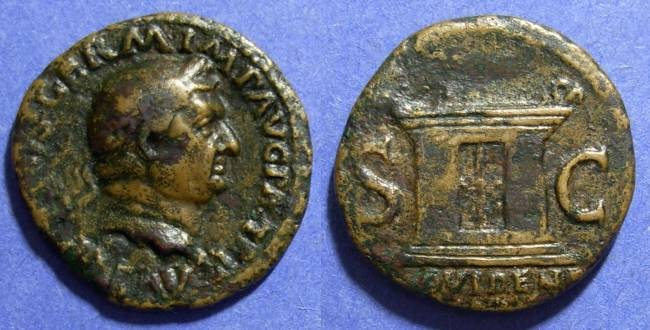 Ancient Coins - Roman Empire, Vitellius 69 AD, As