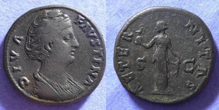 Ancient Coins - Faustina Sr. d.141 - Sestertius