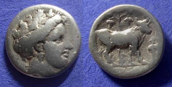 Ancient Coins - Histiaea Euboia Drachm Circa 340 BC
