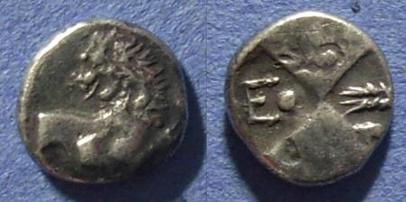 Ancient Coins - Chersonesos, Thrace 450-350 BC, Hemidrachm