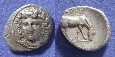 Ancient Coins - Larissa, Thessaly Circa 340 BC, Obol