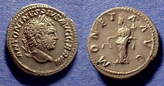 Ancient Coins - Caracalla 198-217 AD Denarius