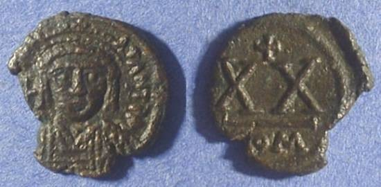 Ancient Coins - Tiberius II Constantine 578-582 - Half follis - Rome mint