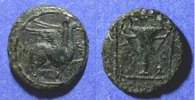 Ancient Coins - Teos, Ionia Circa 200 BC, AE12