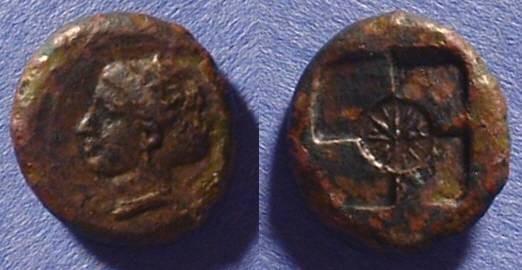 Ancient Coins - Syracuse Sicily AE17 - 415BC Hemilitron