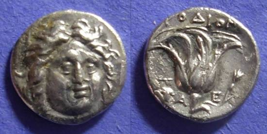 Ancient Coins - Pseudo Rhodian Drachm for Cretan mercinaries - 171 BC
