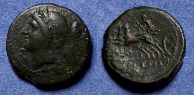 Ancient Coins - Bruttium, Bretti 214-211 BC, AE 17.5