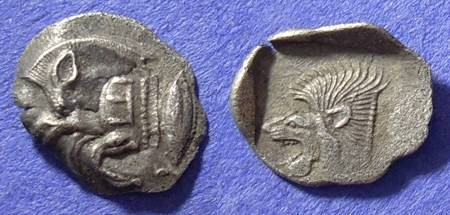 Ancient Coins - Kyzikos Mysia - Obol circa 480-450 BC