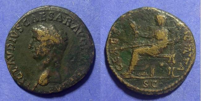 Ancient Coins - Roman Empire, Claudius 41-54 AD, Dupondius
