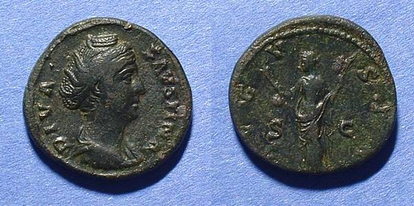Ancient Coins - Faustina I - wife of Antoninus Pius - Aes
