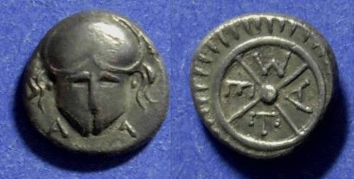 Ancient Coins - Messembria Thrace 450-350BC Diobol
