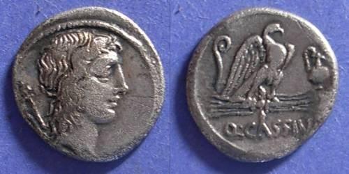 Ancient Coins - Roman Republic, Q Cassius Longinus 55 BC, Denarius