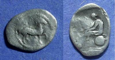 Ancient Coins - Larissa, Thessaly 440-420 BC, Obol
