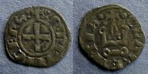 Ancient Coins - Frankish Greece, Achaea, William de Villehardouin 1245-78, Follis