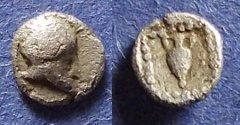 Ancient Coins - Asia Minor, Uncertain city Circa 450 BC, Hemiobol?