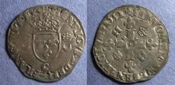World Coins - France, Henri II 1551, Douzain