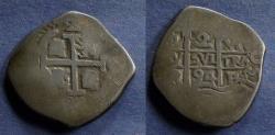 World Coins - Bolivia, Charles II 1694 P VR, 2 Reales