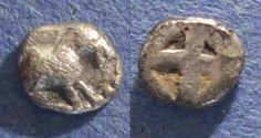 Ancient Coins - Mende, Macedonia 480-460 BC, Tritartemorion