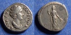 Ancient Coins - Roman Empire, Diva Faustina Sr d. 141, Silver Denarius