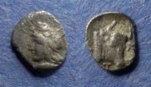 Ancient Coins - Mysia, Kyzikos 450-400 BC, Hemiobol