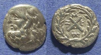 Ancient Coins - Achaian League, Messene Messina 195-188 BC, Hemidrachm