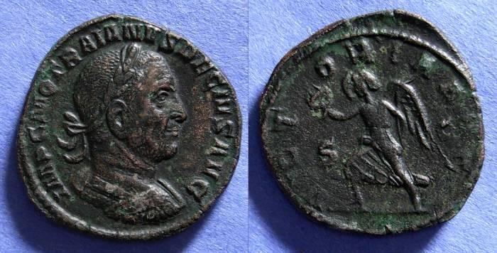 Ancient Coins - Roman Empire, Trajan Decius 249-251, Sestertius