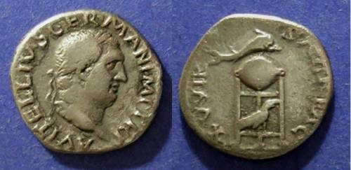 Ancient Coins - Roman Empire, Vitellius 69 AD, Denarius