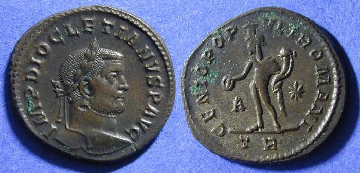 Ancient Coins - Diocletian 284-305AD - Follis Trier mint
